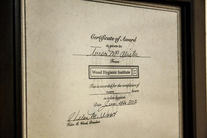 Teresa McAlister - Certification